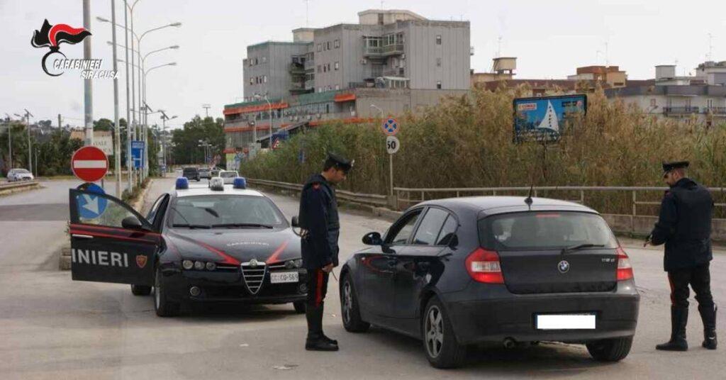 posto di blocco carabinieri augusta siracusapress