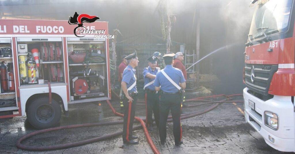 carabinieri vigili del fuoco incendio siracusapress
